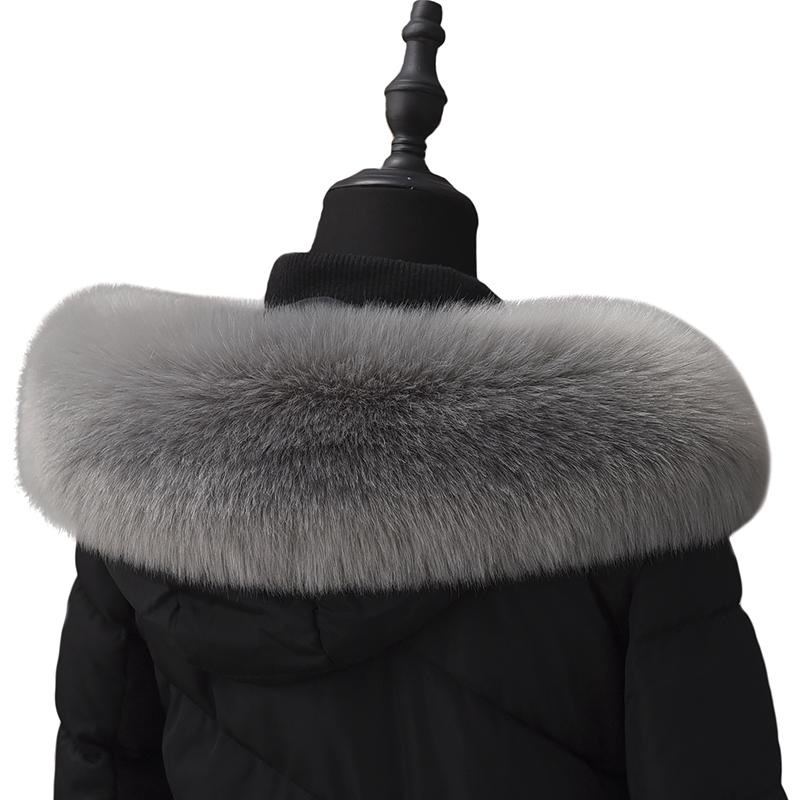 秋冬季皮草羽绒服帽条毛领子仿狐狸毛貉子毛通用大衣毛领超大百搭