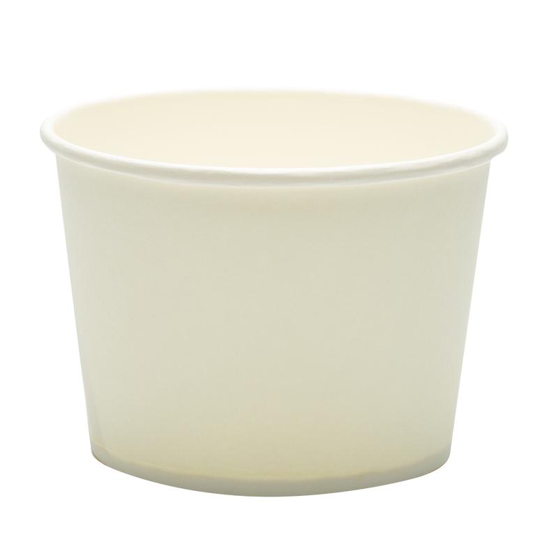 一次性纸碗圆形打包纸盒小吃外卖早餐纸碗带盖白碗盒子整箱可定制