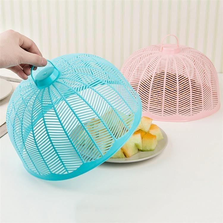 菜罩圆形小号家用塑料餐桌罩防虫苍蝇