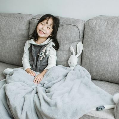 办公室午睡懒人毯沙发休闲毛毯法兰绒毯子空调毯盖毯兔兔绒