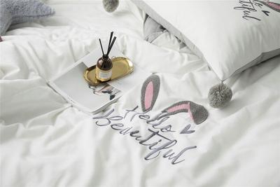 加厚磨毛拉绒全棉四件套1.8m床上用品纯棉少女公主风床单被子被套