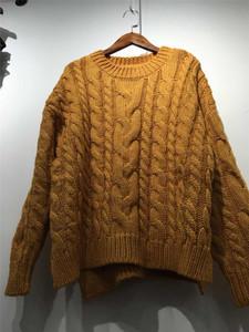 F7 dày lỏng đáy áo len 2018 mùa thu và mùa đông bộ dài tay màu rắn xoắn áo len Hàn Quốc phiên bản của hoang dã 0.73