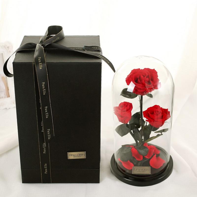 玻璃罩玫瑰花