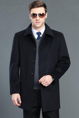 Người đàn ông trung niên của mùa xuân và mùa thu mùa đông len len áo khoác coat coat nam dày cashmere áo gió cha Áo len