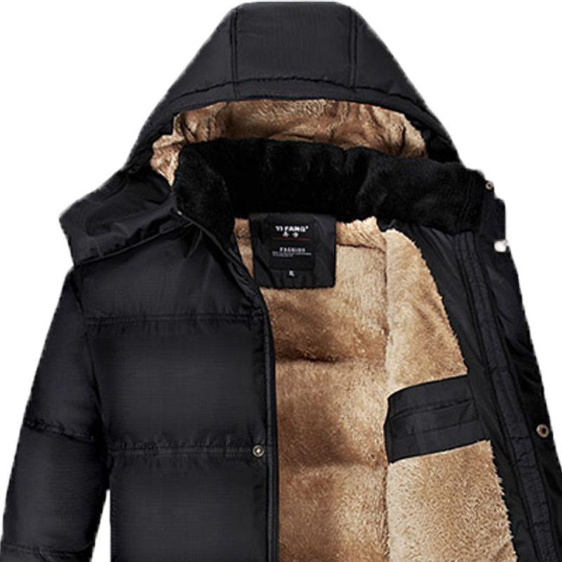Mùa thu quần áo người đàn ông trung niên cộng với nhung dày áo ấm bên ngoài mặc vest người lớn kích thước lớn cắt vai vest áo khoác