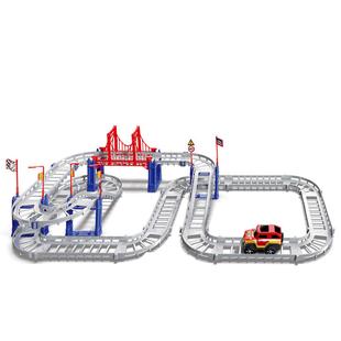 抖音电动拖马斯小火车套装轨道车玩具