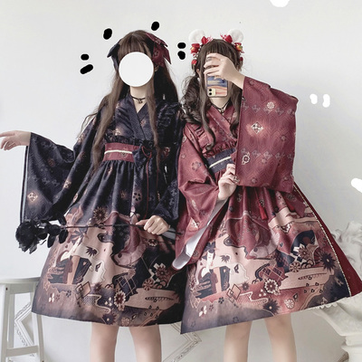 taobao agent Original authentic Miki Sakurai OP Japanese style wide-sleeved long-sleeved Lolita daily Lolita retro dress