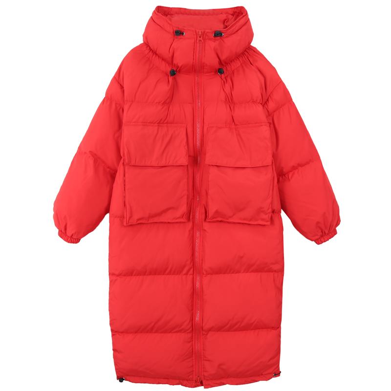 Bông của phụ nữ phần dài trên đầu gối dày xuống quần áo cotton Harajuku phong cách bánh mì Hàn Quốc phiên bản của bông áo khoác mùa đông áo khoác ... Bông