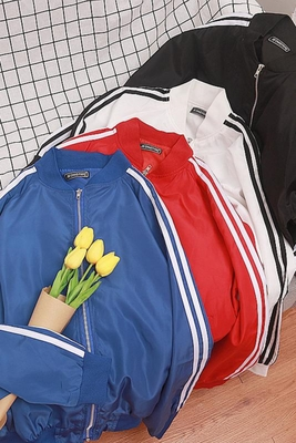 Hồng Kông gió ulzzang của nam giới áo khoác vài áo khoác Harajuku bf gió Hàn Quốc phiên bản của lỏng sinh viên đồng phục bóng chày xu hướng Đồng phục bóng chày