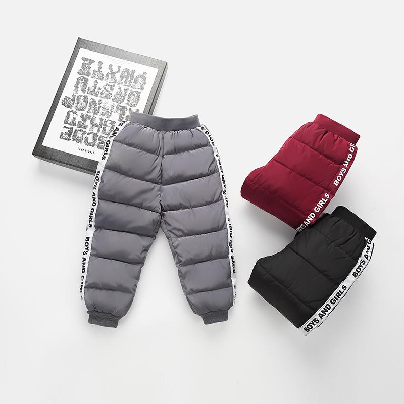 秋冬新款儿童羽绒棉保暖加厚裤子