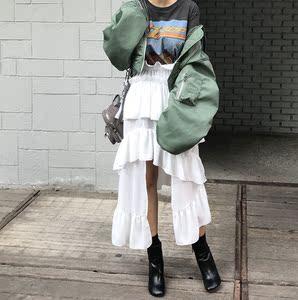 韩国个性半身裙不规则长裙