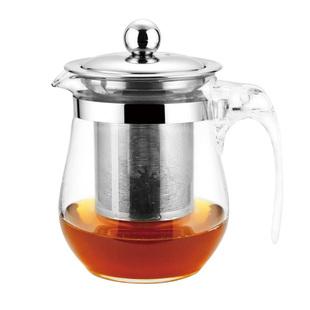 耐热玻璃茶具不锈钢过滤冲茶器玻璃壶家用办公泡茶水壶花草茶具