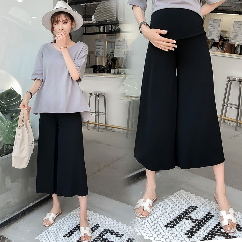 Thêm mã lớn phụ nữ mang thai mùa hè ăn mặc đặt chất béo MM200 kg cô gái béo triều mẹ cộng với phân bón tăng lỏng rộng quần chân hai mảnh