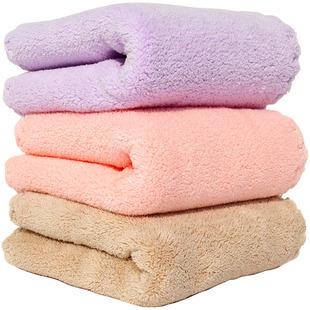 3条装高密珊瑚绒花边儿童毛巾 比纯棉吸水小毛巾洗脸巾不掉毛手巾
