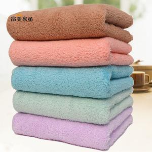 4条装高密珊瑚绒花边儿童毛巾 比纯棉吸水小毛巾洗脸巾不掉毛手巾