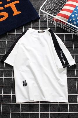 Harajuku bf gió nam ngắn tay t-shirt mùa hè mới Hàn Quốc phiên bản của các xu hướng lỏng lẻo vài sinh viên t-shirt quần áo nửa tay áo Áo khoác đôi