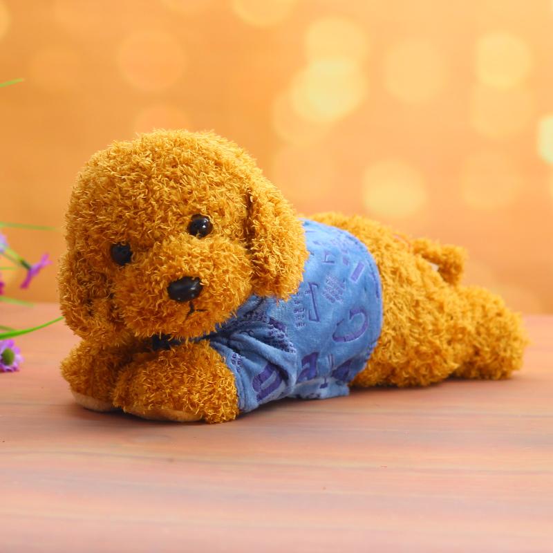 Dễ thương Teddy Dog Doll Puppy Dog Đồ chơi sang trọng Chó mới Trang trí xe Trang trí Trang trí Búp bê Ragdoll - Đồ chơi mềm