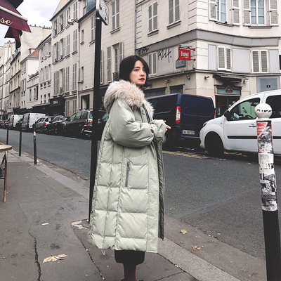 winter new east gate down cotton suit middle and long style over knee thickened bread suit cotton jacket cotton coat, cotton jacket, cotton coat