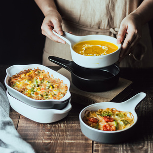 烤箱碗饭碗微波炉专用烤盘陶瓷烤碗西餐盘