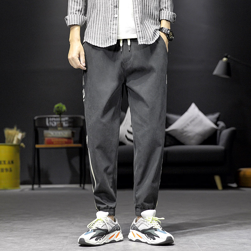 祖玛珑休闲裤男春季新款潮牌束脚裤子韩版潮流宽松男士运动长裤