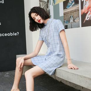 蚀骨旗袍年轻款中国风民族少女复古倒袖胖mm大码女装改良版连衣裙