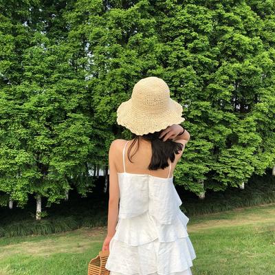 Mùa hè mới treo cổ flounce lớp bánh váy nữ tính khí rắn sexy quây áo ngực một từ váy Sản phẩm HOT