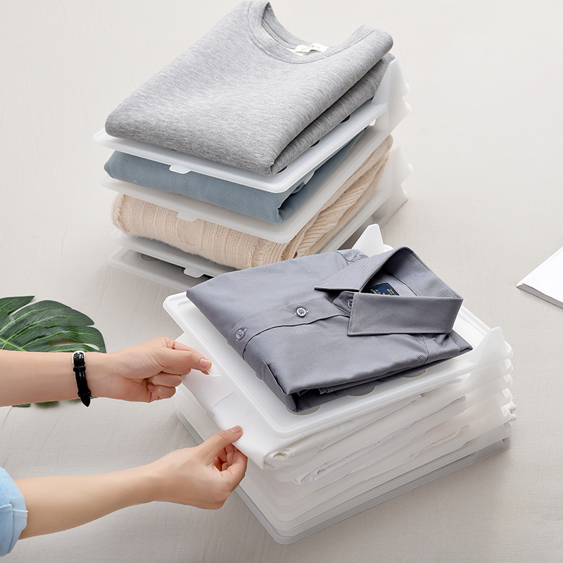创意家居隔衣板收纳整理神器衣服隔板叠衣板家用可叠加塑料整理架