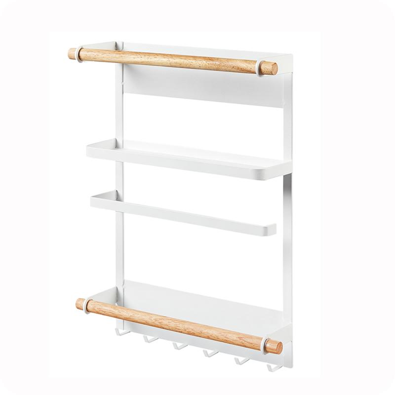优思居日式铁艺冰箱挂架侧壁挂厨房调味品磁性收纳架调料架置物
