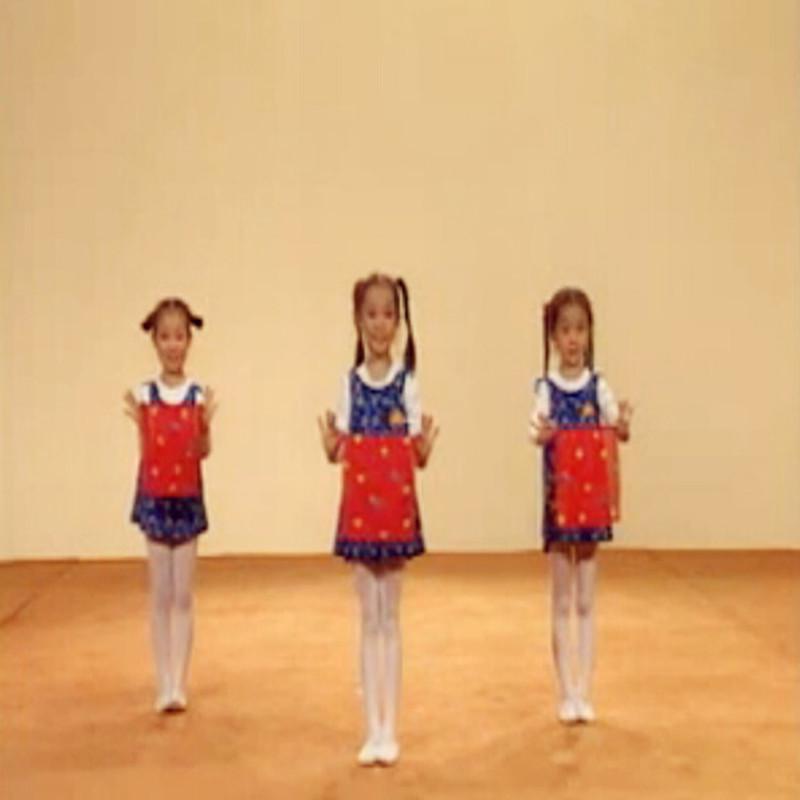 北京舞蹈学院北舞中国舞儿童考级二级半蹲手绢舞蹈手绢丝巾道具