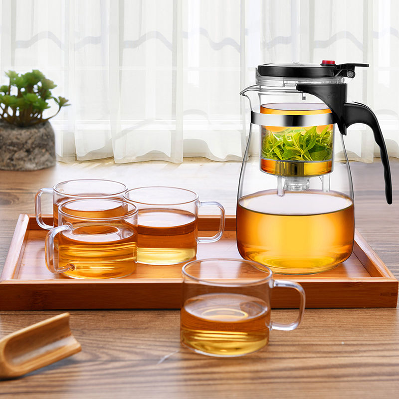 飘逸杯泡茶壶玻璃茶壶耐热防爆单壶家用套装茶杯茶具冲玲珑杯