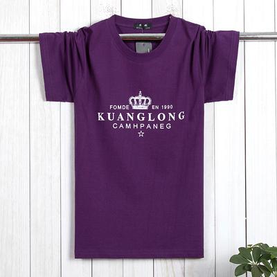 Thêm bông lớn nam t-shirt ngắn tay cộng với phân bón XL chất béo đơn giản quần áo chất béo nửa tay áo vòng cổ triều 6X áo polo gucci Áo phông ngắn