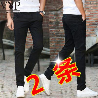 Playboy quần mỏng nam Hàn Quốc phiên bản của xu hướng của mùa hè nam quần âu thanh niên cotton mỏng chân quần Quần mỏng