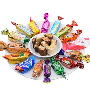 俄罗斯进口多口味巧克力糖果大礼包2斤