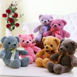 小号彩色泰迪熊公仔布娃娃机毛绒玩具小熊公仔抱抱熊玩偶女生儿童
