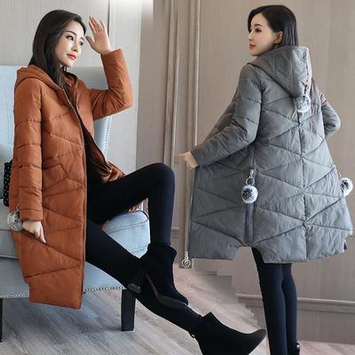 2017 mềm chị mùa đông của phụ nữ dày coat chống mùa của phụ nữ bông coat của phụ nữ phần dài Hàn Quốc phiên bản của xuống bông độn áo khoác