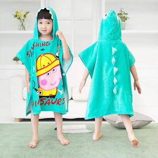 儿童浴巾浴袍斗篷纯棉可穿套头浴巾斗篷