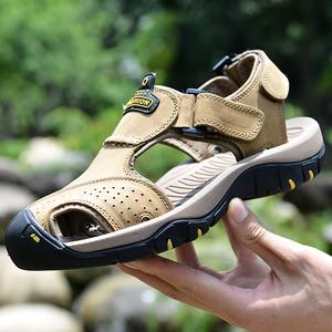 Lạc đà đám mây dép của nam giới mùa hè non-slip baotou giày dày đế có đế giày dép da thở bình thường giày bãi biển