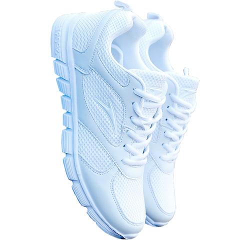 白色运动鞋女夏中年妈妈鞋跑步鞋小白学生鞋旅游透气网面厚底新款
