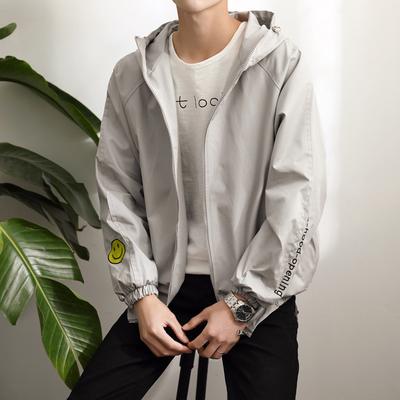 Mùa xuân và mùa hè áo khoác mỏng của nam giới chống nắng áo khoác sinh viên bình thường tự trồng thanh niên mùa xuân Hàn Quốc thể thao