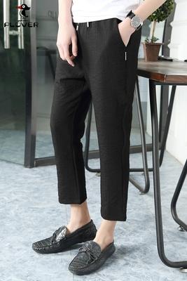 Hồng Kông chim gõ kiến chất lượng cao nam mùa hè quần âu Hàn Quốc thẳng chín quần xu hướng của nam giới quần âu Crop Jeans