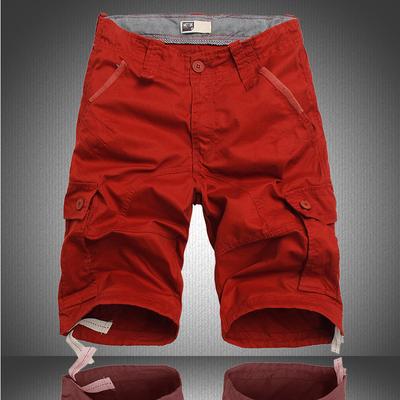 Mùa hè phần mỏng lỏng đa túi năm điểm quần short dụng cụ chất béo quần quần 5 điểm quần âu chân rộng kích thước lớn quần short Quần làm việc