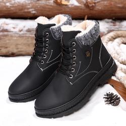【今日特价网】冬季2018新款棉鞋男式雪地靴男士韩版休闲加绒马丁靴户外运动男鞋