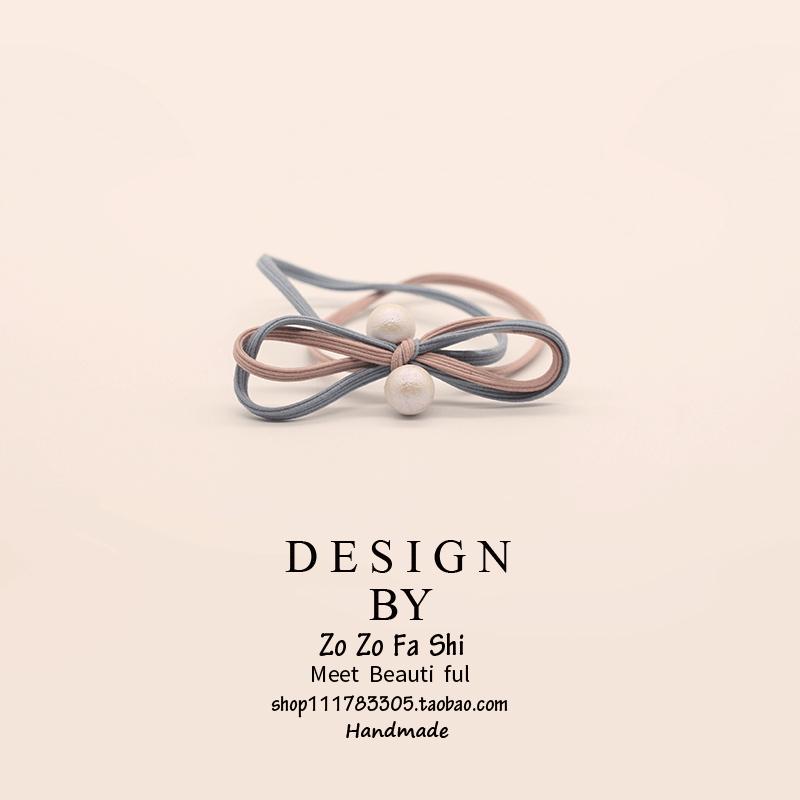 韩式蝴蝶结可爱甜美扎头发橡皮筋发绳头花高弹力韩国发圈头绳发饰