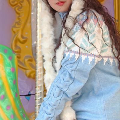 Vintage vintage khắc Iceland Ferris bánh xe Bắc Âu Công Bằng Isle loose trùm đầu lười biếng cao cổ áo Sen áo len
