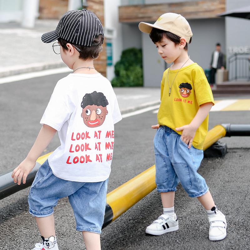 儿童装男童春装套装2019新款中大童帅气男孩春款洋气两件套休闲潮