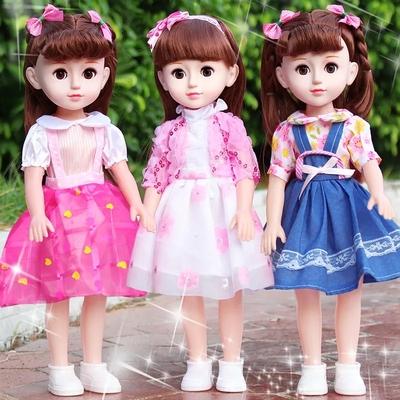 会说话的嘿喽芭比娃娃婴儿童玩具智能仿真洋娃娃套装小女孩公主布