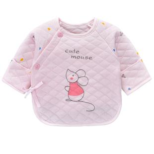 0-3個月寶寶半背衣保暖秋冬上衣