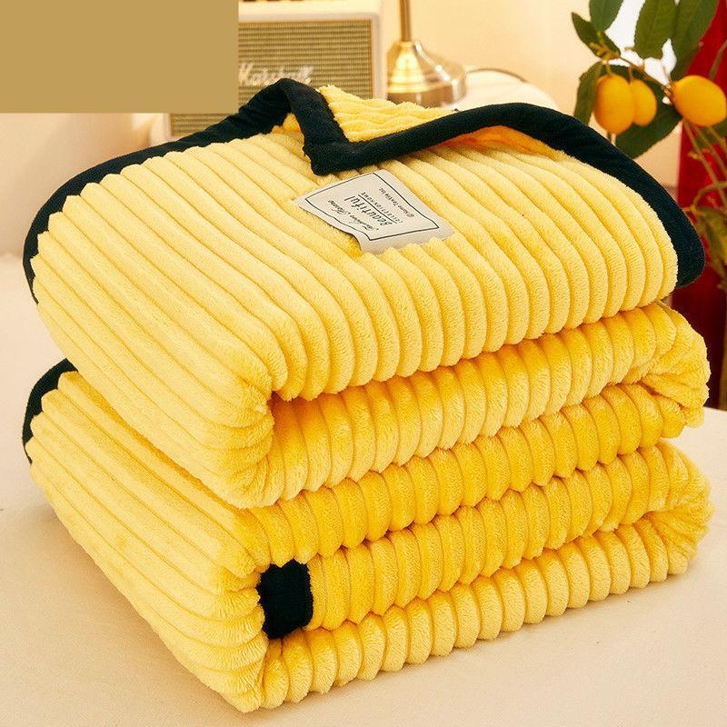 梦家纺加厚珊瑚绒毛毯】冬季小毯子法兰绒宿舍人办公室午睡毯学生毯
