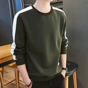 秋季新款男士圆领休闲卫衣韩版学生圆领长袖T恤男青年男装上衣服