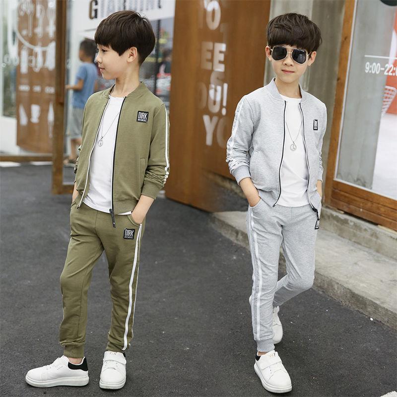 限10000张券秋冬新款男童装韩版套装儿童运动服